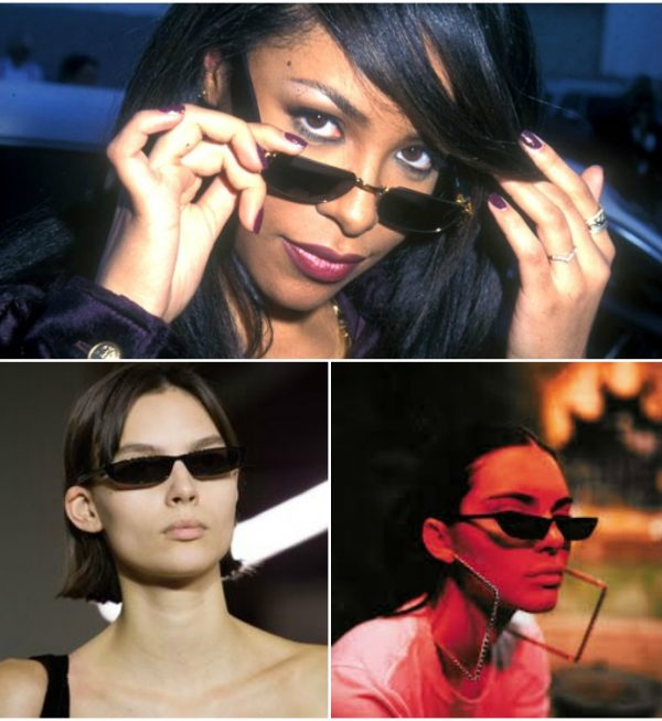 90's small sunglasses fashion trend