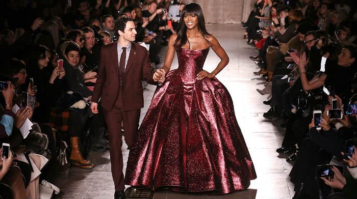 Zac Posen and Naomi Campbell close the designer's fall 2015 runway show