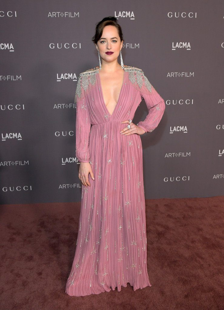 Dakota Johnson in Gucci at LACMA art + film gala 2017