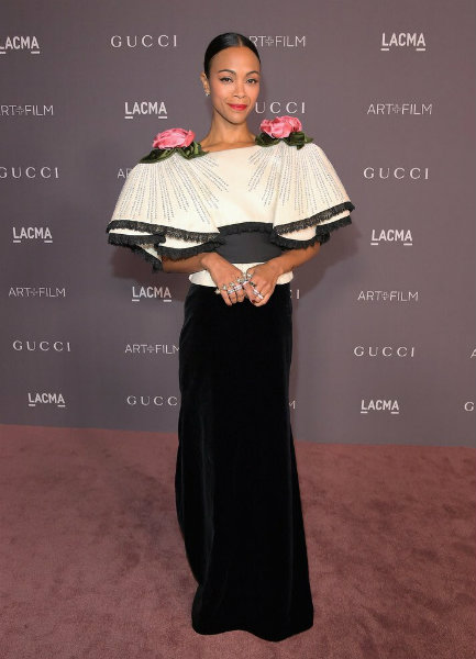 Zoe Saldana in Gucci at LACMA Art + Film Gala 2017