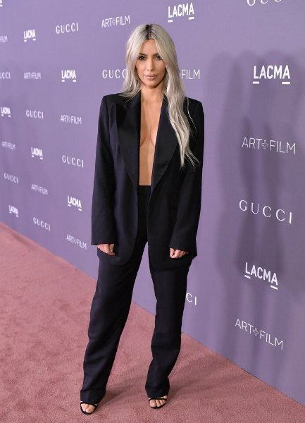 Kim Kardashian in Gucci by Tom Ford at LACMA Art + Film Gala 2017