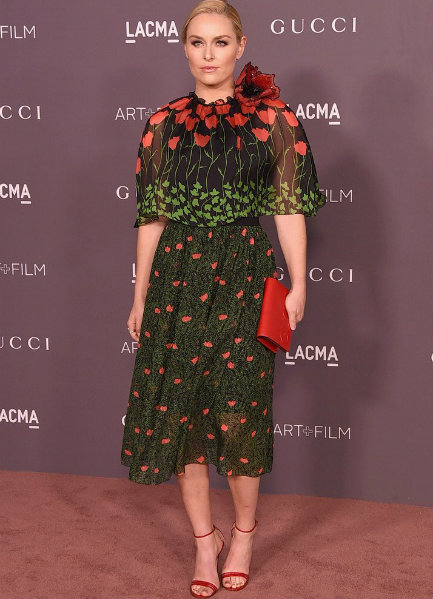 Lindsey Vonn in Gucci at LACMA Art + Film Gala 2017