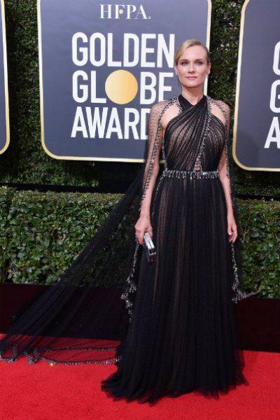 Diane-Kruger in prada golden globes 2018