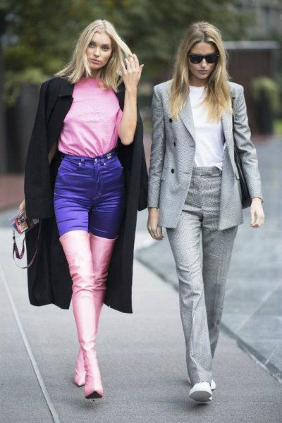 Elsa Hosk model street style balenciaga boots