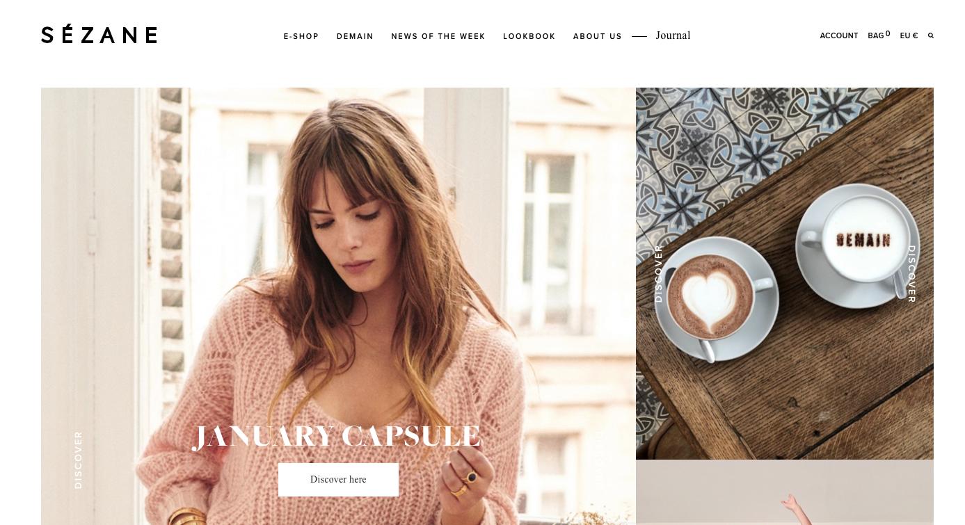 sezane shopping online