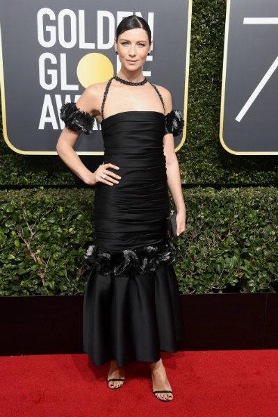 Caitriona Balfein Chanel golden globes 2018