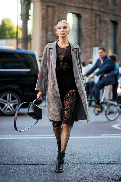 milan-fashion-week-street-style-spring-2018-elsa-hosk-black-lace-dress-grey-coat