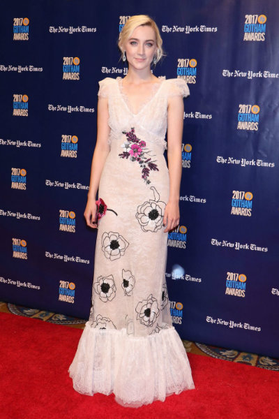 saoirse ronan in rodarte at the 2017 Gotham Independent Film Awards