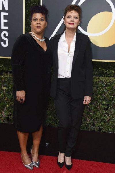 Rosa Clemente and Susan Sarandon in Saint Laurent
