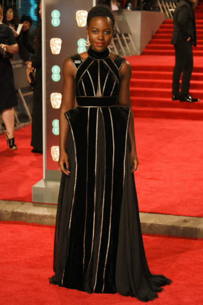 2_Lupita Nyongo BAFTA 2018 red carpet elie saab