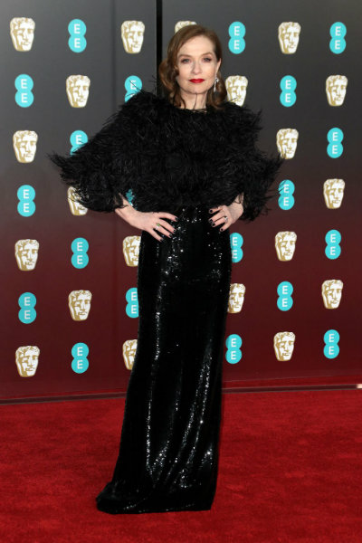 6_isabelle huppert BAFTA 2018 red carpet armani